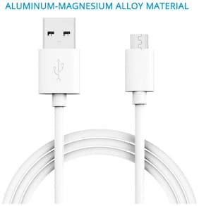 LIRAMARK Data & Charging Micro USB Cable ( 1 mtr , White )