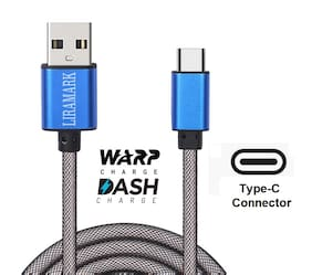 LIRAMARK Data & Charging Type-C Cable ( 1 m , Blue )