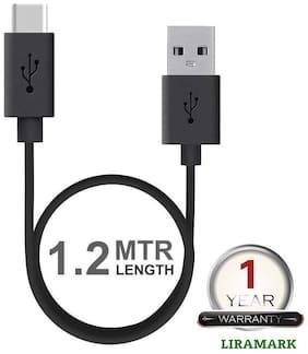 LIRAMARK Usb c type cable - 1-1.5m , Black
