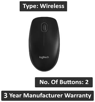 Logitech B100 Full-Size Corded Mouse