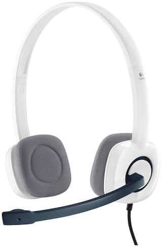 Logitech H150 Over-Ear Wired Headphone ( White )