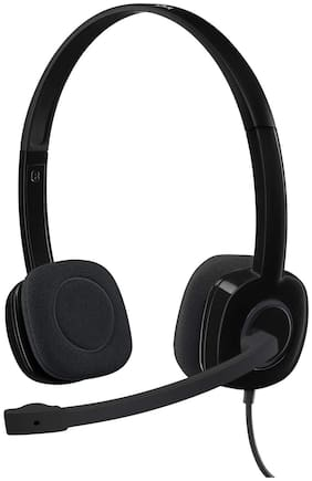 Logitech H151 Over-Ear Wired Headphone ( Black )
