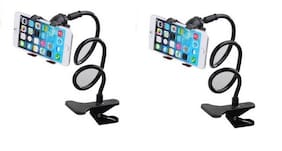 Long Lazy Stand Bed Desktop Car Stand Mount for Cell Phone Car Mobile Holder Mobile Holder (2Pc)
