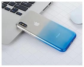 LOXXO Back Cover for Apple Iphone X Silicone Skin Flexible Glitter Gradient Case Cover for Iphone x & Case Cover For Iphone 10 (Blue)