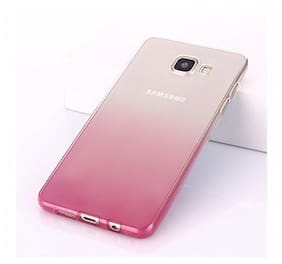 LOXXO Back Cover for Samsung Galaxy 6 Silicone Skin Flexible Gradient Case Cover for Samasung S6 (Pink)