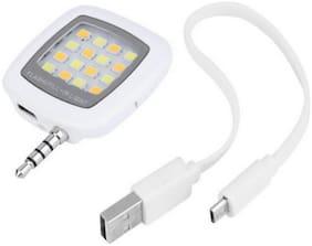 LS Letsshop Portable Mini 16 LED Night Using Selfie Flash Fill-in Light Pocket Spotlight for all smartphones