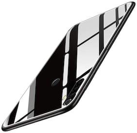 Redmi Note 8 Glass & Silicone Back Cover By EXOTIC FLOURISH ( Black )