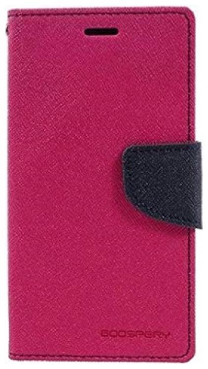 Luxury Mercury Magnetic Lock Diary Wallet Style Flip Cover Case for Motorola Moto C Plus   Pink by Exotic Flourish