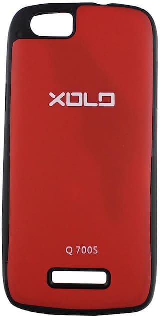 new style 87c22 9a979 Manro Back Cover For Xolo Q700s (Red)