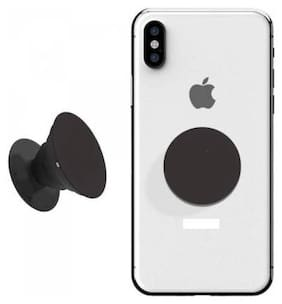 Marketon  Durable Reusable for iOS Phone,Android Pop Socket Mobile Holder (Pack of 1) Assorted Color