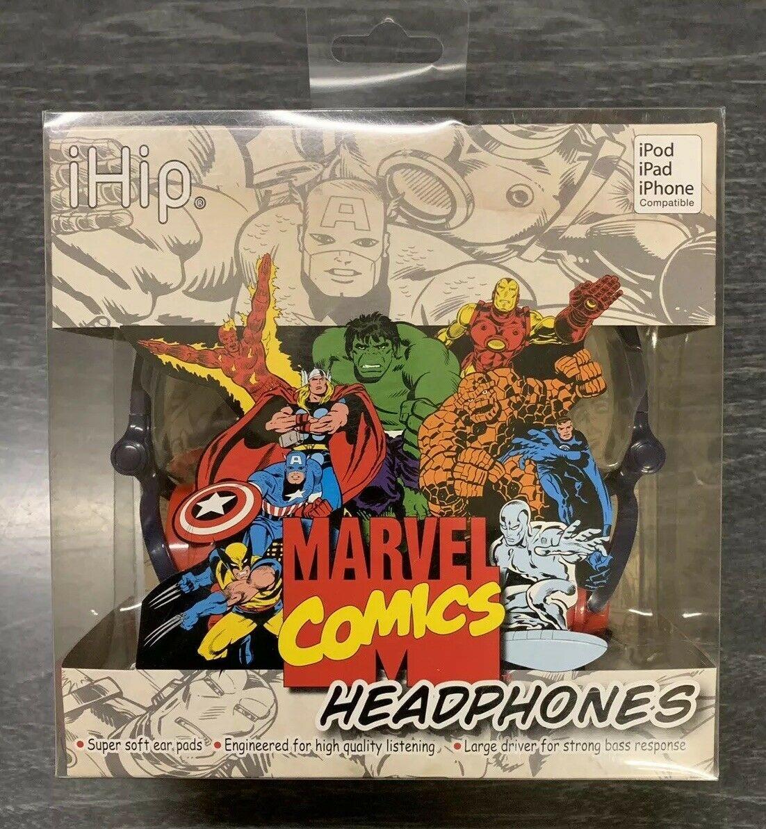 MARVEL COMICS iHip HEADPHONES EARPHONE iPod iPad iPhone a1110 MVF2400RT