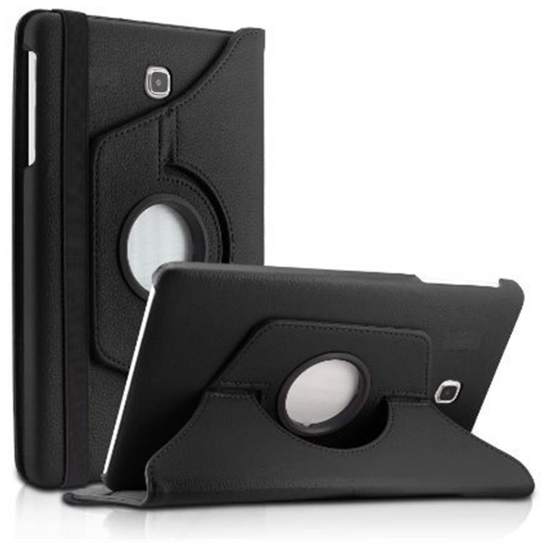 Mascot max 360° Degree Rotating  Black Stand  Flip Cover case For SamSung Galaxy Tab A 8 20.32 cm  8.0 inch   Black  by SS Balaji Enterprise