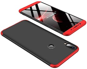 Mascot max 360 Degree Case Premium Shockproof 3 in1 Full Body Protection  Back Cover case - Red & Black  for - Huawei Nova 3i