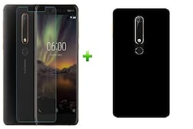 Mascot max back cover black with tempered glass 0.33mm 2.5D Curved glass for nokia 6.1 (2018)