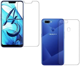 Mascot max Back Cover For Oppo A5 With Screen Guard (Transparent)