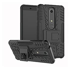 Mascot max back cover Defender case Hiquality Hybrid case black for Nokia 6.1 92018)