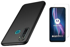 Mascot Max back cover slim matte Flexible back cover with tempered glass 0.33mm 2.5D for Motorola Moto One fusion plus