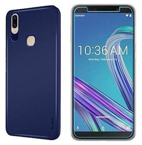 Mascot max  Combo pack Blue Back cover  with tempered glass 0.3mm 2.5D Glass for Ausu Zenfone max pro M1