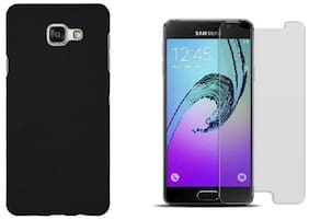 Mascot max Hard back cover (black) with tempered glass for Samsung galaxy J7prime