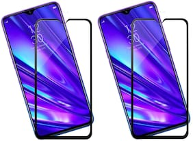 Mascot Max Tempered glass 9H tempered glass 2.5D 6D High Quality black glass pack of 2 glass for Realme XT
