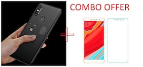 Mascot max tempered glass 0.33mm 2.5D glass with back cover black  for Xiaomi Redmi Y2 (S2)