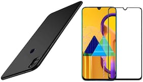 Mascot Max Tempered glass Edge to edge cover Black 9H with back cover black Ultra slim Matte Finish for Samsung Galaxy M30s