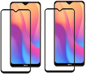 Mascot Max Tempered glass Edge to Edge cover 9H black glass pack of 2 for Xiaomi redmi 8A
