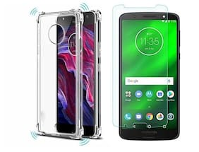 Mascot max tempered glass 0.33mm 2.5D Curved glass  black with boom transparent back cover  for Motorola Moto G6 plus