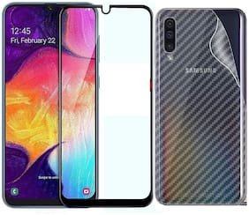 Mascot Max Tempered glass 9H tempered glass 2.5D with Back screen guard pack of 2 glass for Samsung Galaxy A50S/A30S/A20S