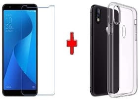 Mascot max transparent back cover  with tempered glass0.33mm 2.5D glass  for Asus Zenfone Max pro M1