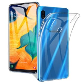Max Pro Rubber Back Cover For Samsung Galaxy A30 ( Transparent )