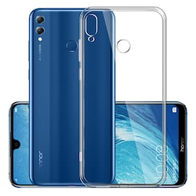 Max Pro Back Cover For Honor 8X (Transparent)