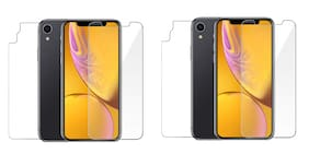 Max Pro Front and Back Tempered Glass For Apple iPhone XR Pack of 2