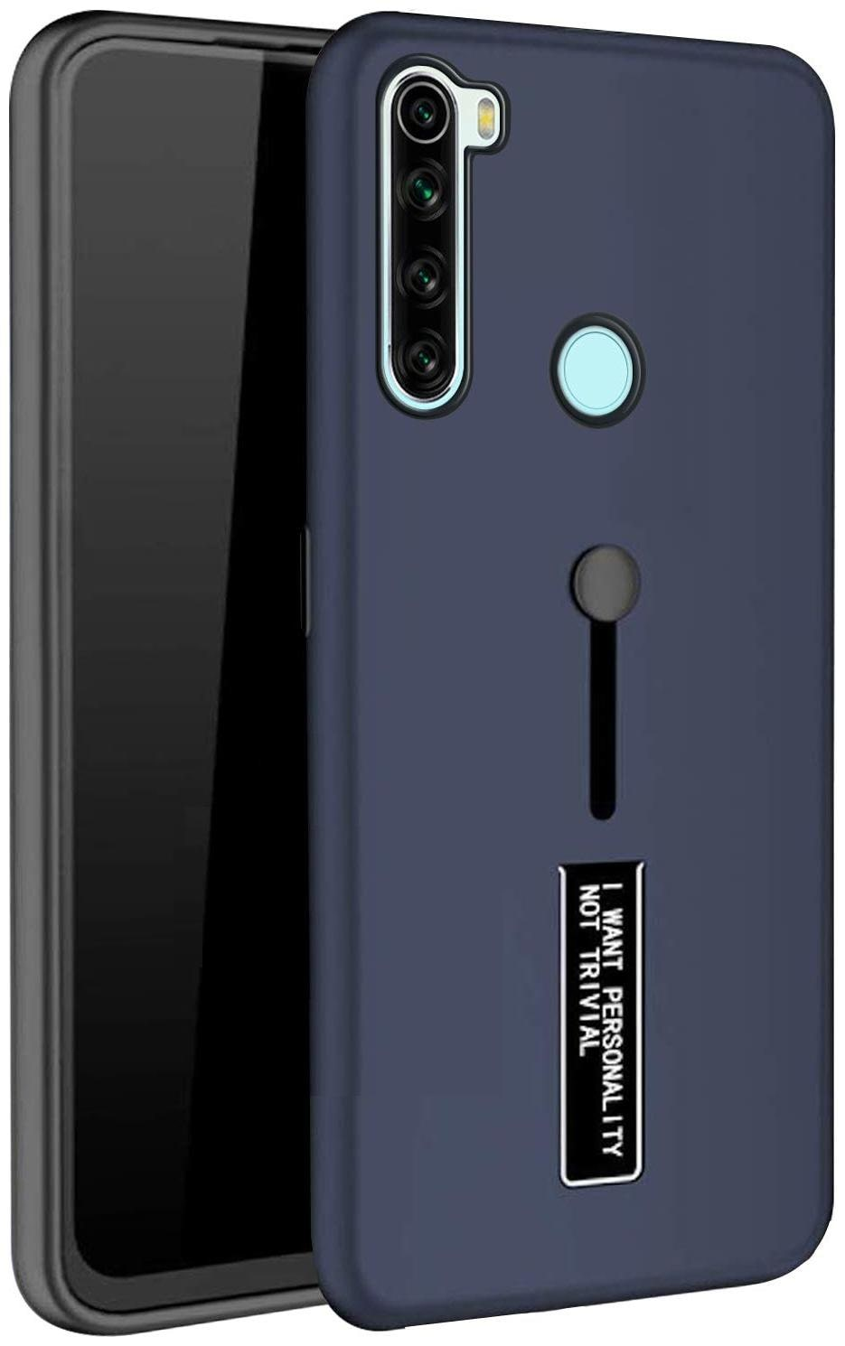 Max Pro Polycarbonate Hard Back Cover For Redmi Note 8 ( Blue )