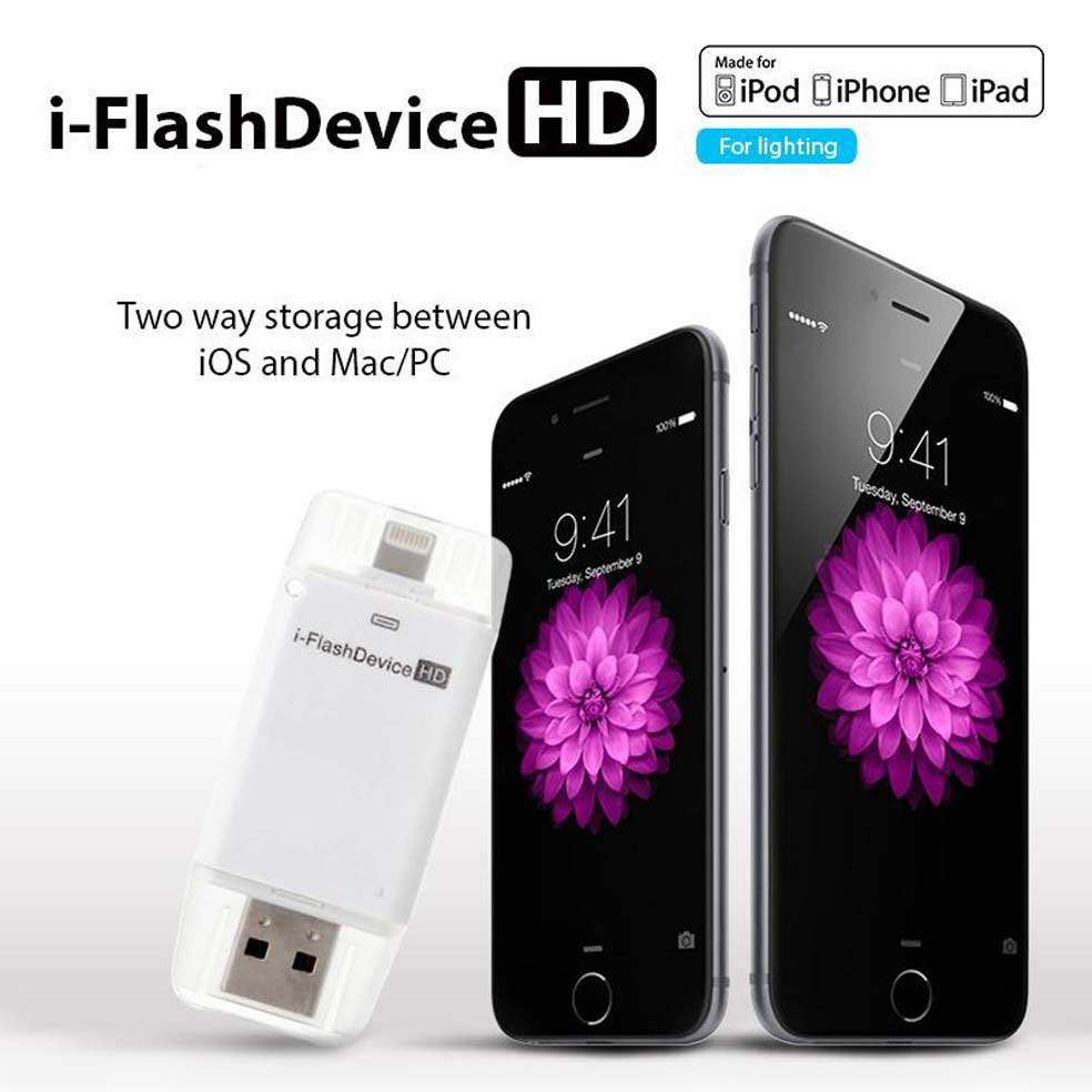 MENDLY  I Flash Device HD Memory Stick With Lightning Connector And APP For IPhone 5/5c/5s/6/6plus IPad