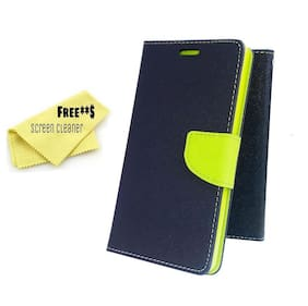 Mercury Diary Goospery Card Wallet Flip Cover Back Case for Xiaomi Redmi Note 4 - Green Blue