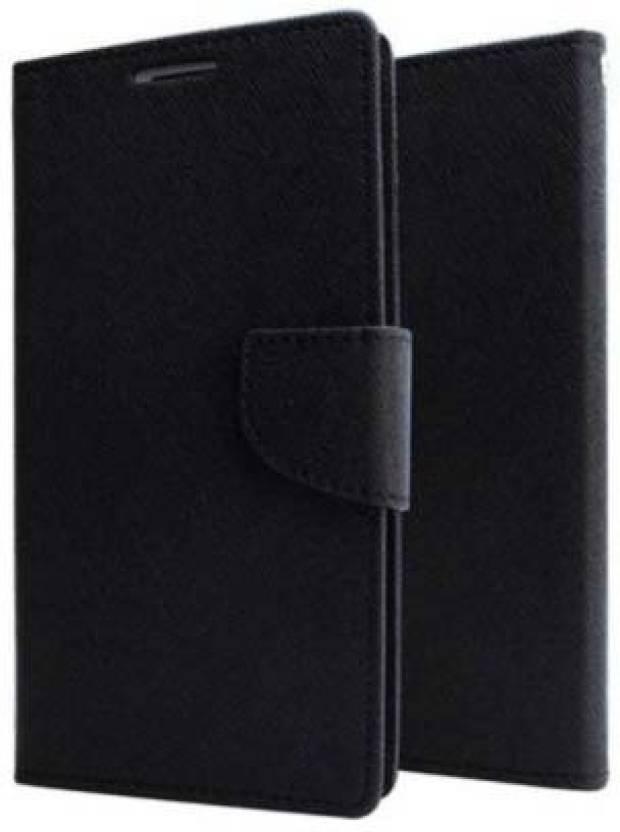 Mercury Goospery Fancy Flip Wallet Case Cover for Mi Redmi Note 5 Pro Black by Arjun Enterprises And Company