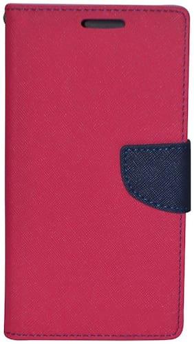 Mercury Goospery Flip Cover For Microsoft Lumia 435 (Pink)