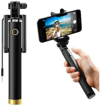 Mezing Pocket Sized Selfie Stick for iPhone and Android and All Smartphones