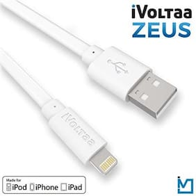 MFi 1m Apple Certified Original iVoltaa ZEUS Lightning to USB Sync and Charge Cable for iPhone SE/5/6/6s/7/Plus/iPad Mini/Air/Pro (Pack of 1)