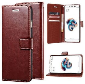 MFishing Flip Cover For Honor 9i (Brown)