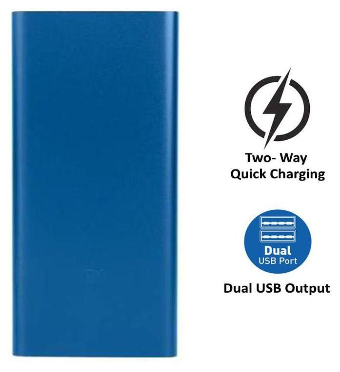 Mi 10000 mAh Li-Polymer Power Bank (Blue)