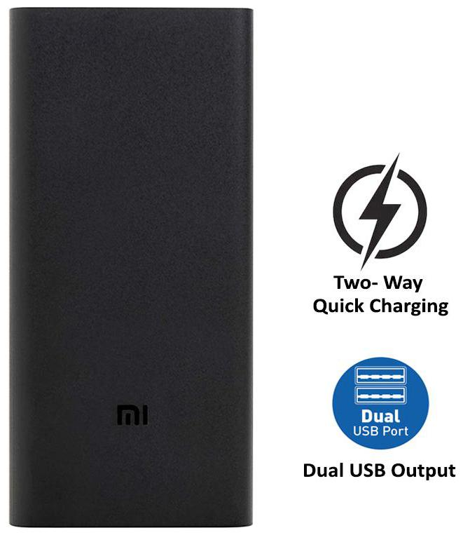 Mi 20000 mAh Li-Polyme Power Bank (Black)