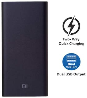 Mi 2i 10000 mAh Power Bank - Black