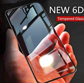 Mi 6 pro 6D Tempered Glass Full Glue Redmi 6 pro Tempered Glass, Full Edge-Edge Screen Protection for Mi 6 pro (Pack of 1, Black)