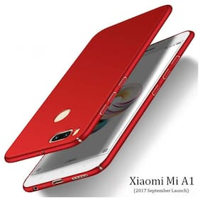 Mi A1 All Sides Protection 360 Degree Sleek Rubberised Matte Hard Case Back Cover For Mi A1 Red