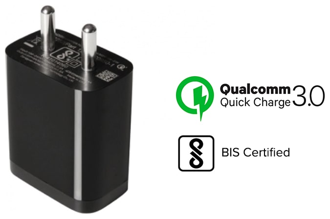 Mi MDY-08-EW India Standard Mobile Charger (Qualcomm Quick Charge 3.0) - Black