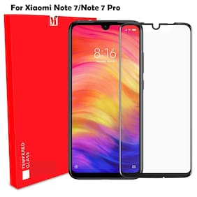 Mi Note 7/Note 7 pro Tempered Glass Full Glue A-Original Tempered Glass By-MODIK