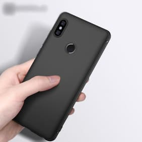 Mi Redmi Note 5 Pro Black Soft Rubber & Silicone Case Back Cover In Best Quality(Black)