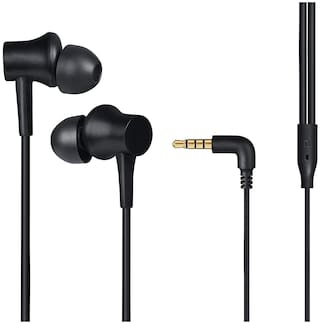 Mi Basic with Ultra deep bass and mic In-Ear Wired Headphone ( Black )